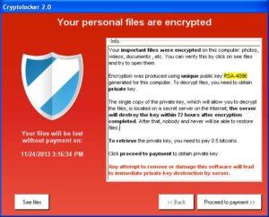 virus cryptolocker in azione